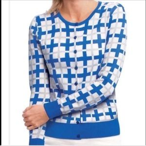 CAbi Blocked Multicolor Cardigan Size XS—WO1